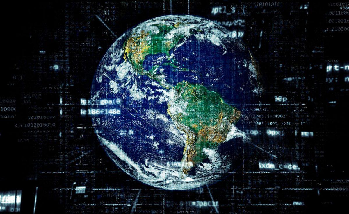 Planeta Tierra Tecnológico haciendo referencia a la telematica